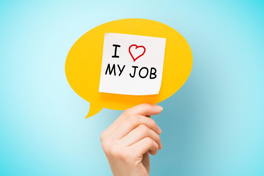 """Zufriedene Mitarbeiter """"I love my Job"""""""