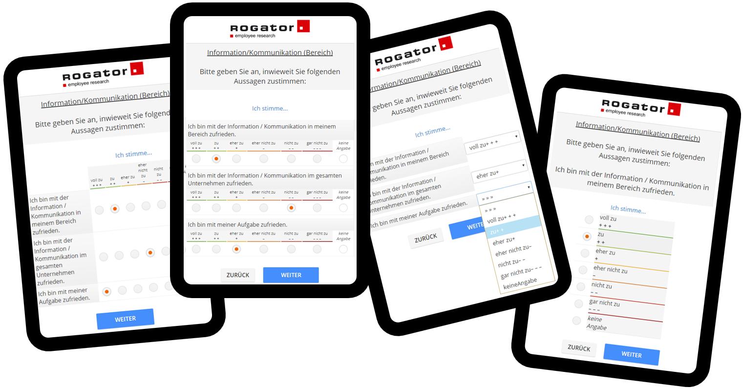 Umfragedesign Beispiele