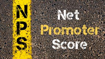 Net Promoter Score Aufschrift Asphalt