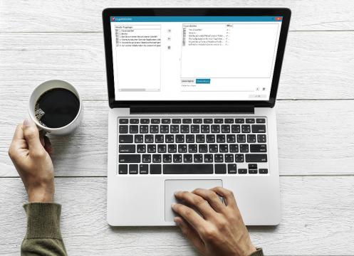 Fragebogenprogrammierung Fragenbibliothek Laptop