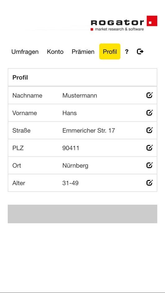App Profil