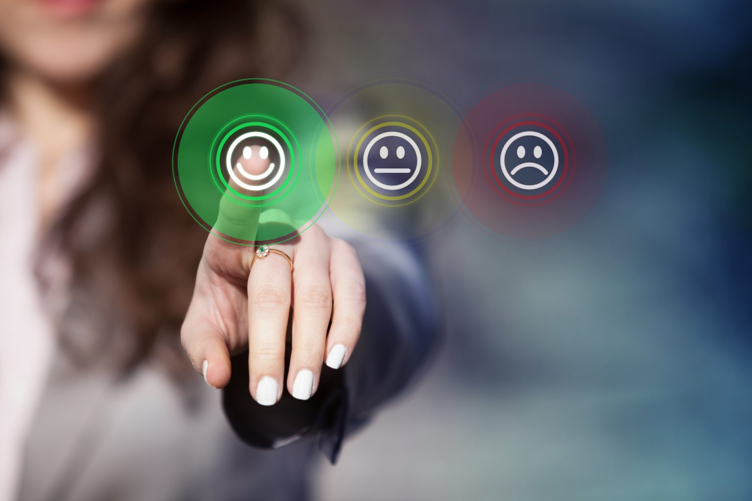 Kundenzufriedenheitsanalyse Smileys