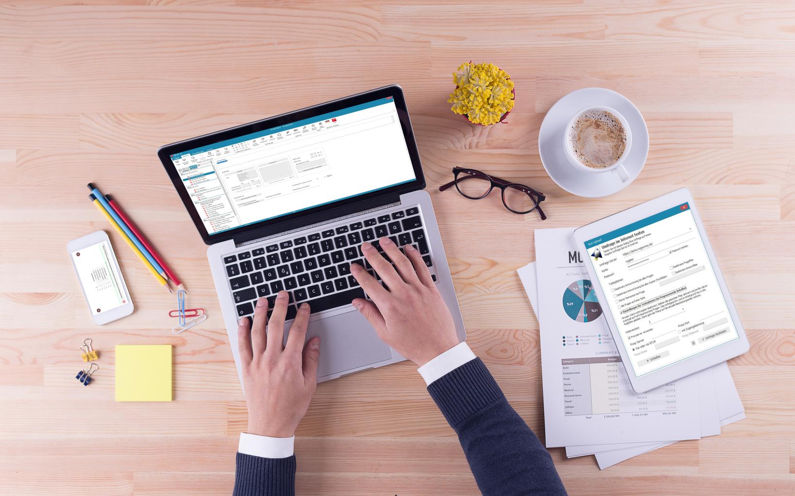 Online Befragung Laptop