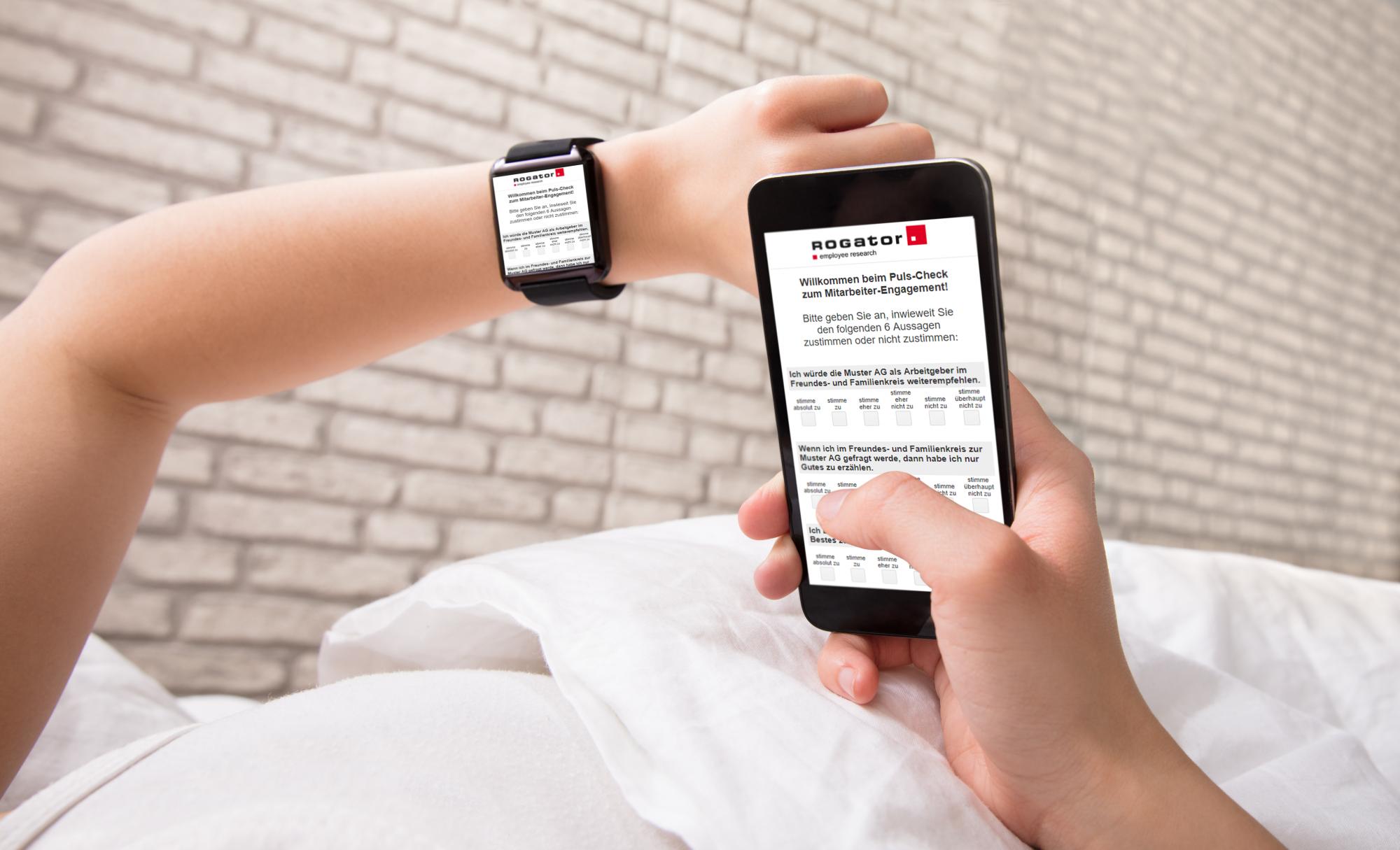 Puls-Befragung Smartwatch und Smartphone