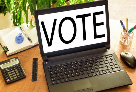 Betriebswahl, Mitbestimmung Laptop mit
