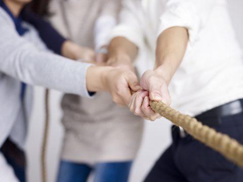 Puls-Befragung Personen ziehen an einem Strang