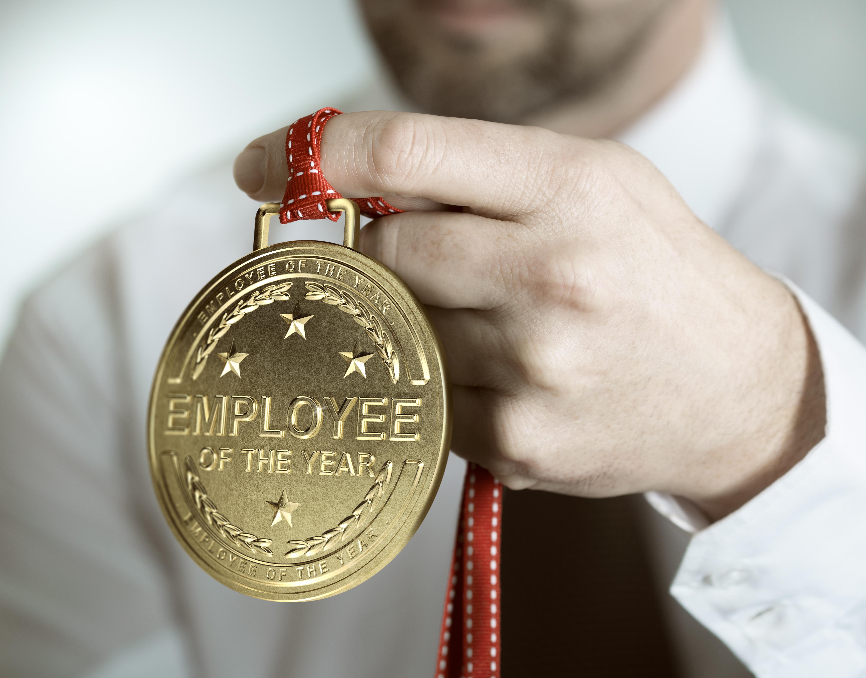 "Betriebswahl, Mitbestimmung ""Employee of the Year"" Medaille"