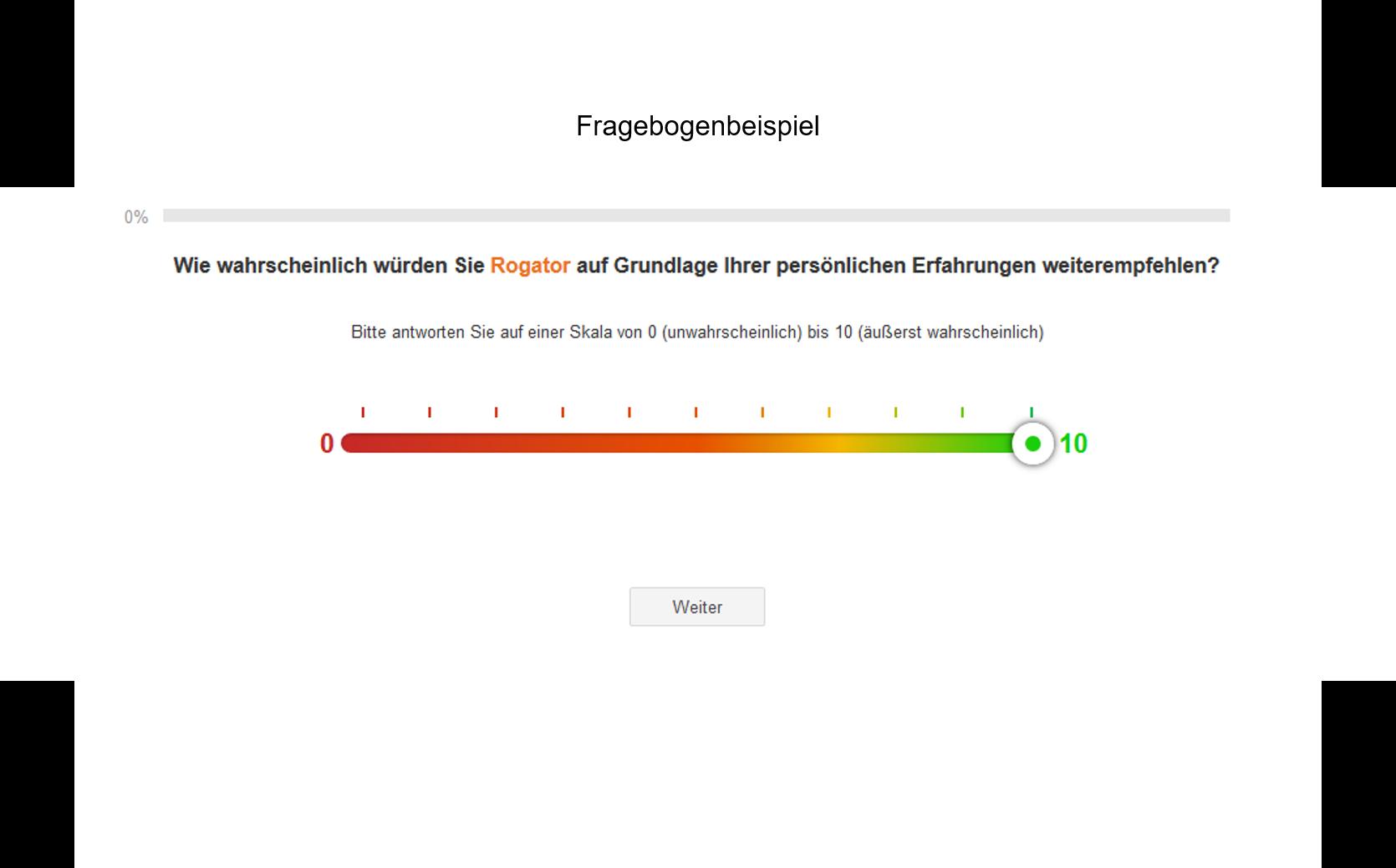 Fragebogenbeispiel Net Promoter Score