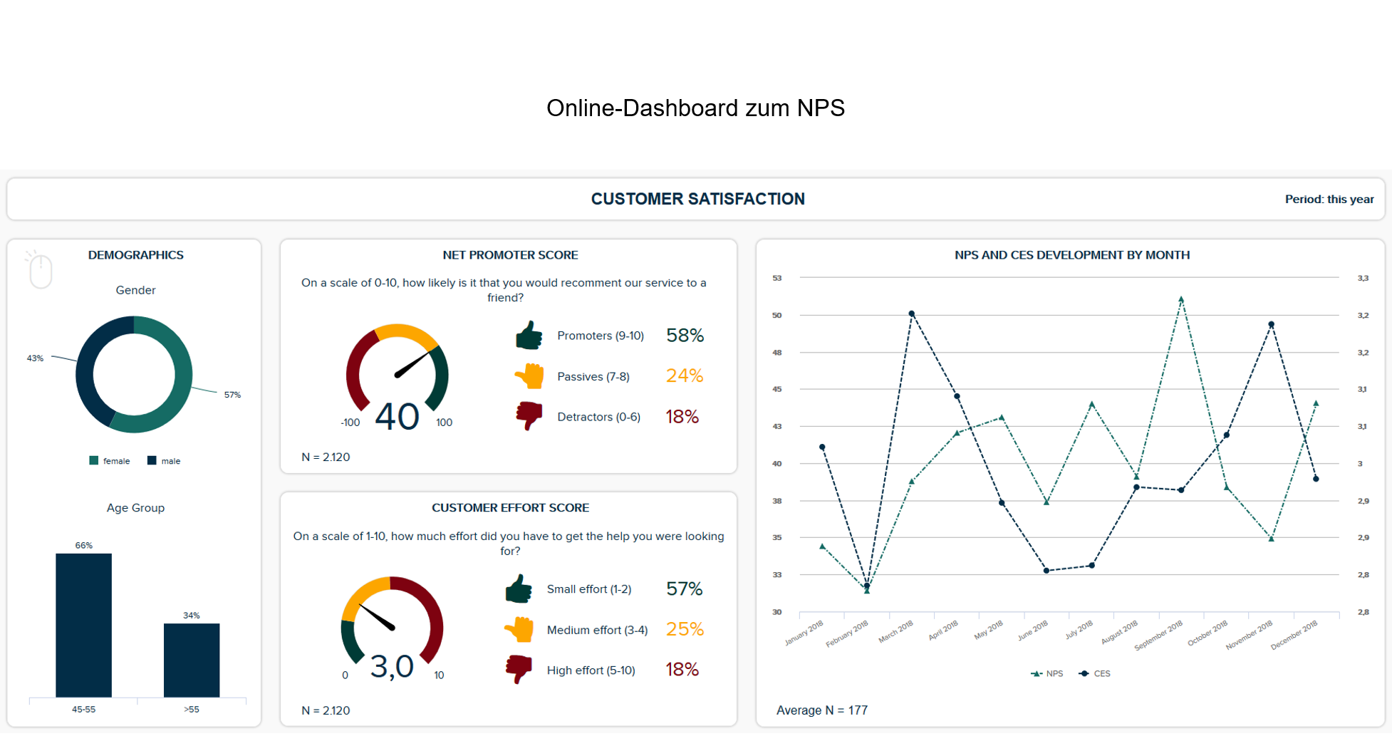 Online-Dashboard zum Net Promoter Score