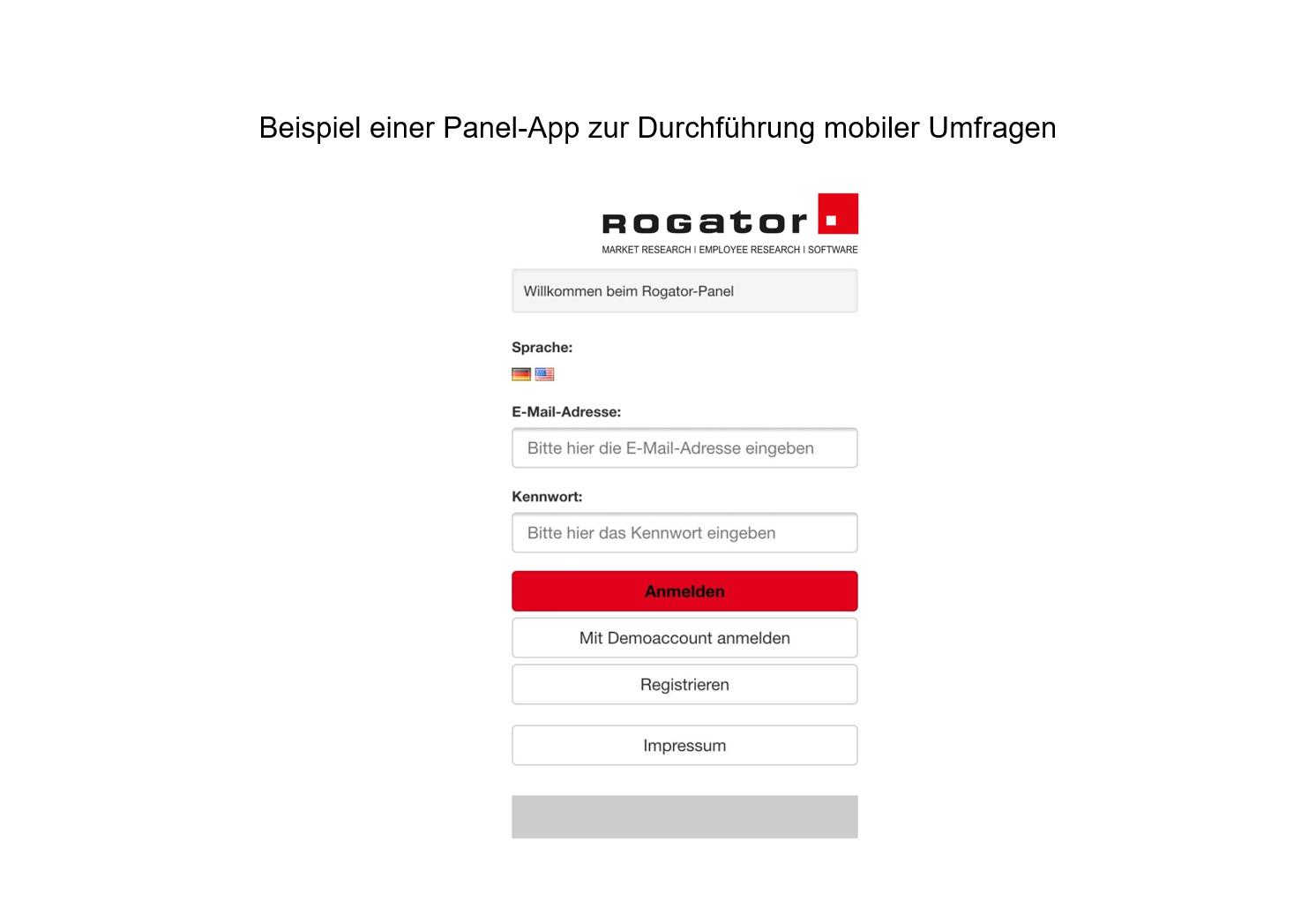 Beispiel Panel App mobile Umfrage