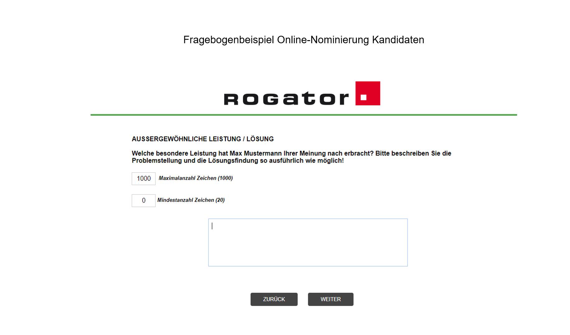 Betriebswahl, Mitbestimmung Fragebogenbeispiel Online-Nominierung Slide 3