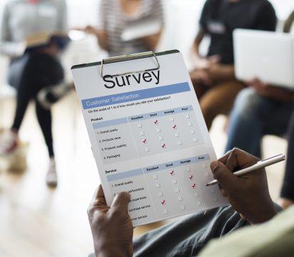 Markenbekanntheit Klemmbrett Survey