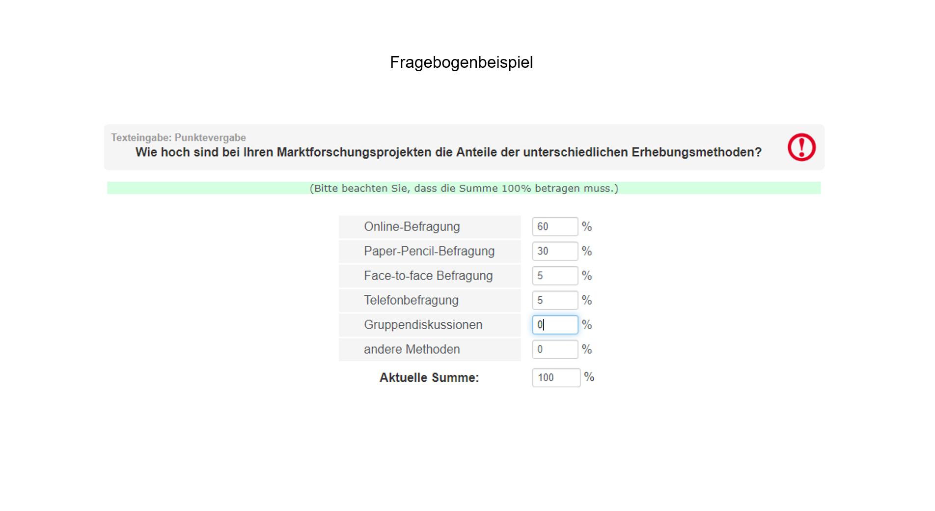 Fragebogenprogrammierung Beispiel Erhebungsmethoden