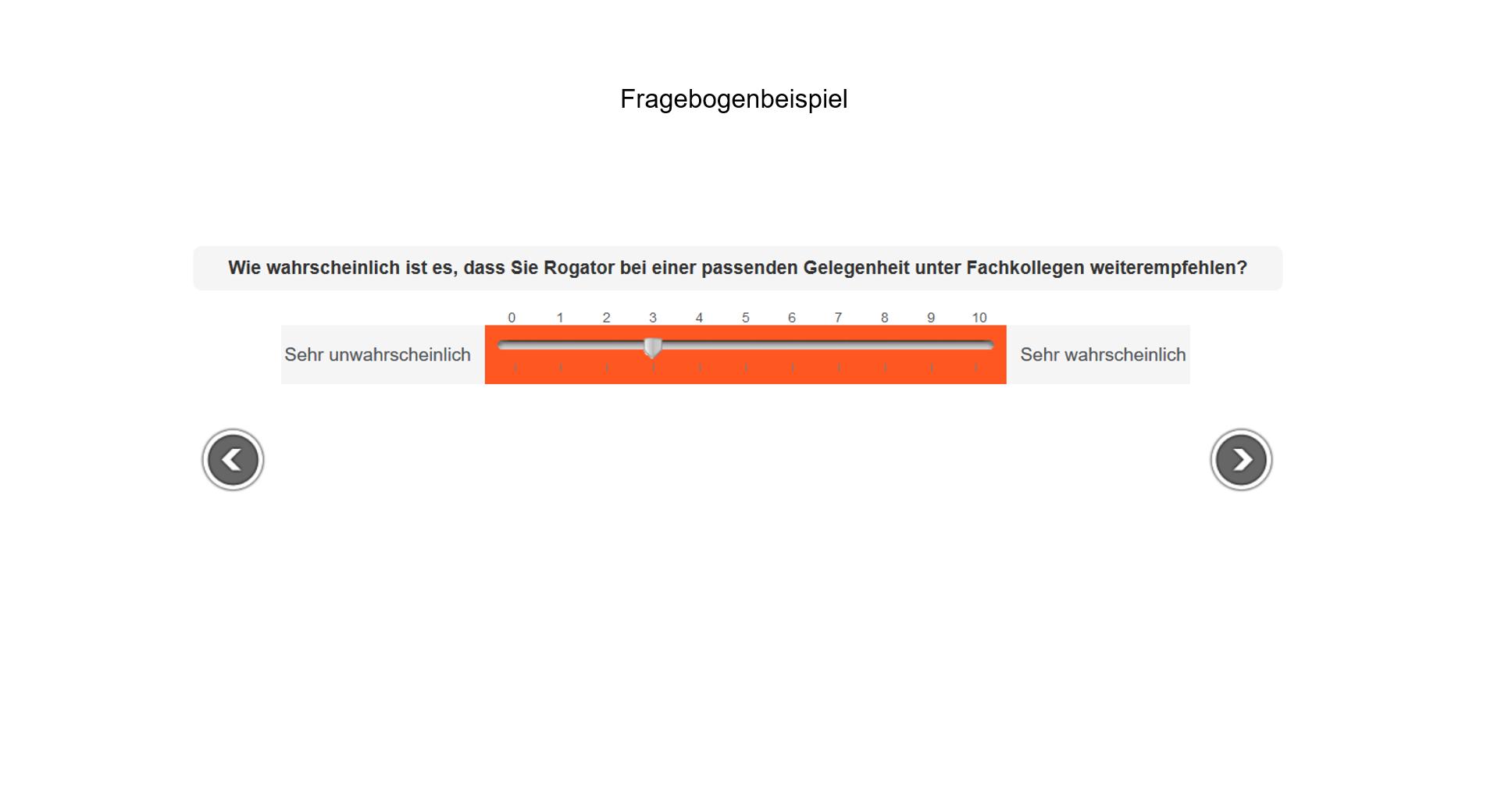 Fragebogenprogrammierung Beispiel Empfehlungsbarometer