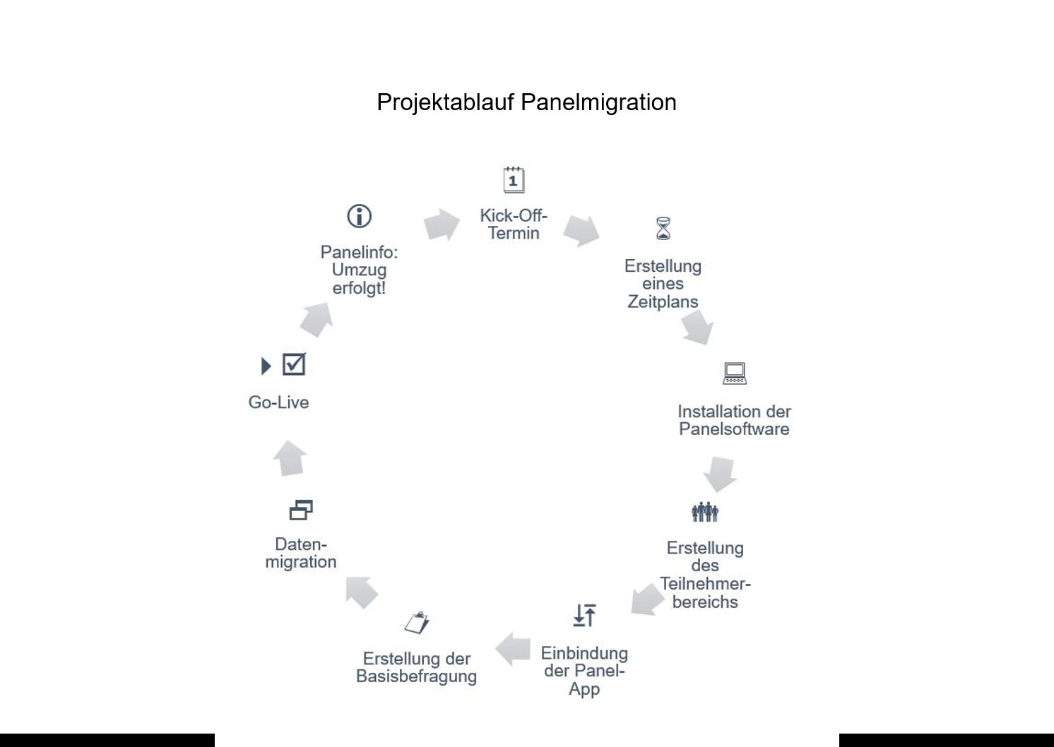 Projektablauf Panelmigration