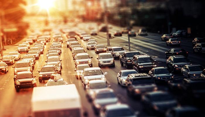 CO2-Abgabe Stau auf Straße