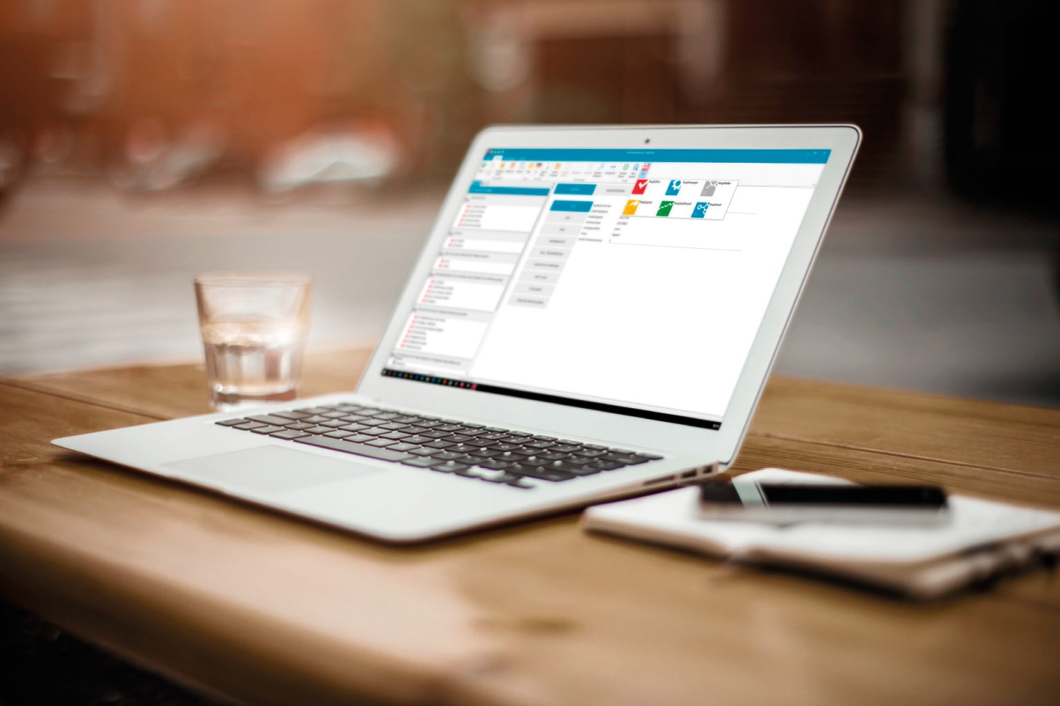 offener Laptop mit G3plus