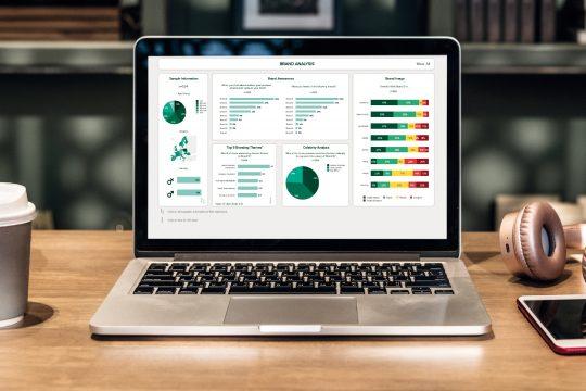 Permium Dashboard Analyseseite Laptop