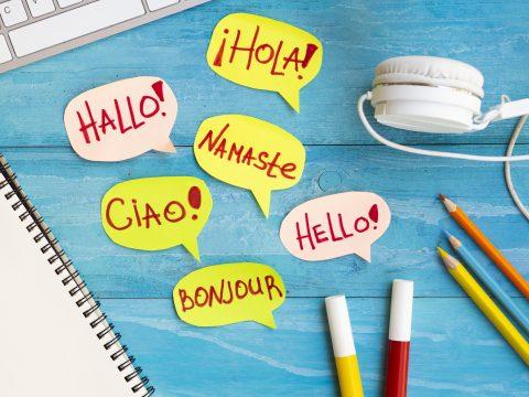 Hallo in verschiedenen Sprachen