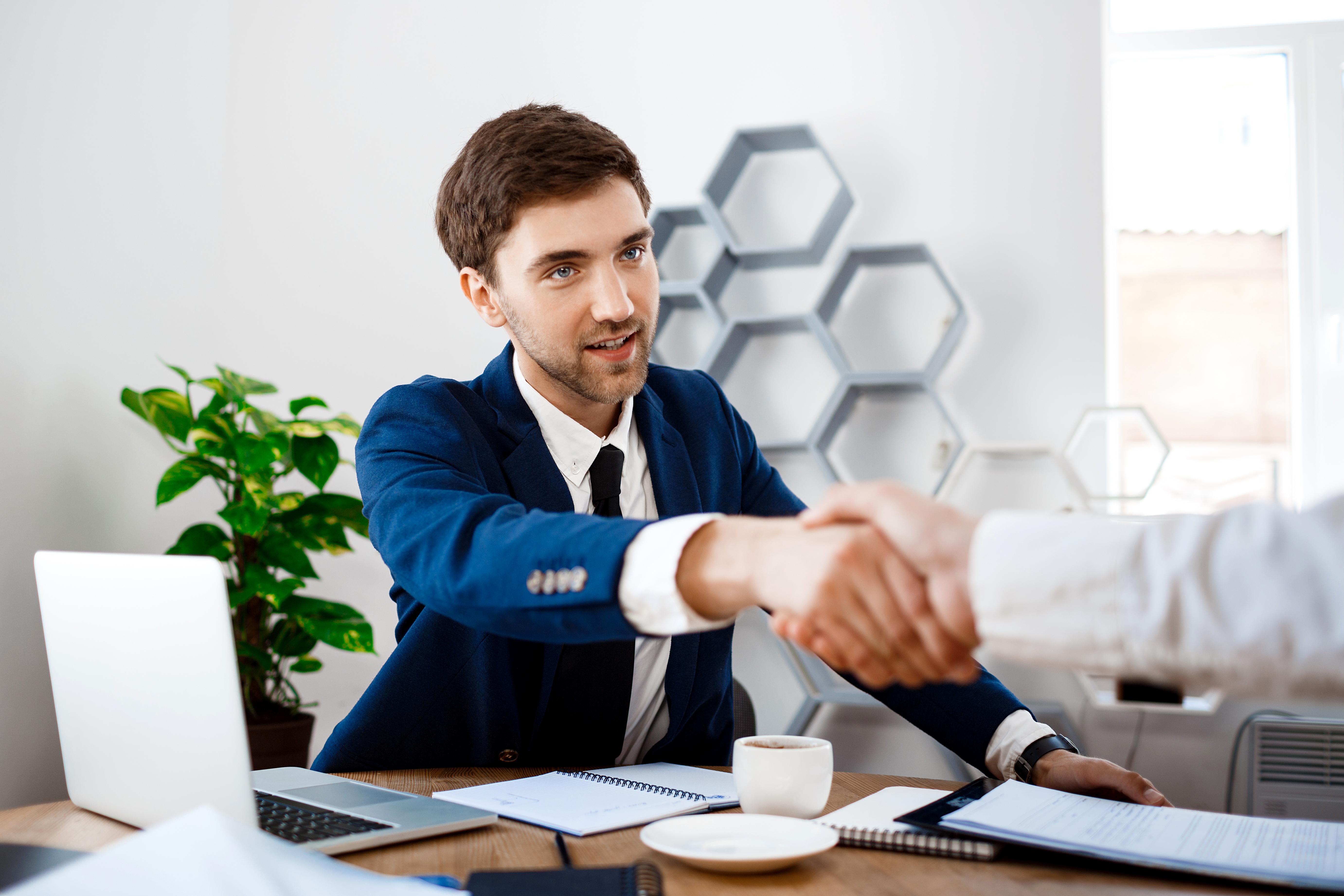 Geschäftstreffen Handschlag