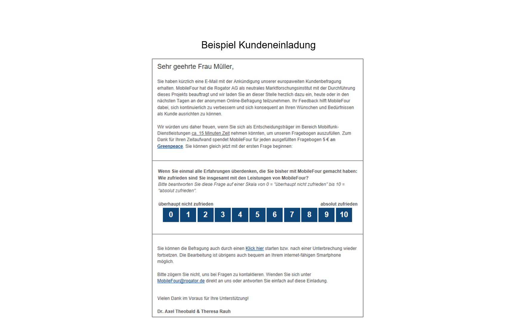 B2B Beispiel Kundeneinladung