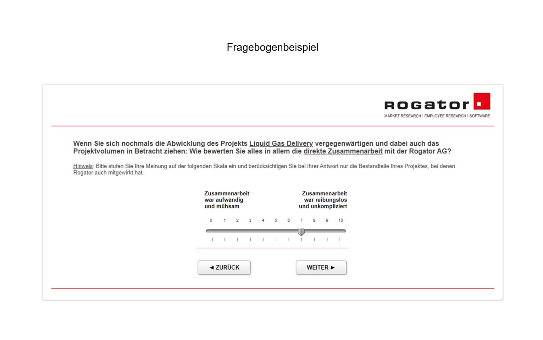 Customer Effort Score Fragebogenbeispiel 2