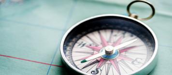 Kompass sicher navigieren