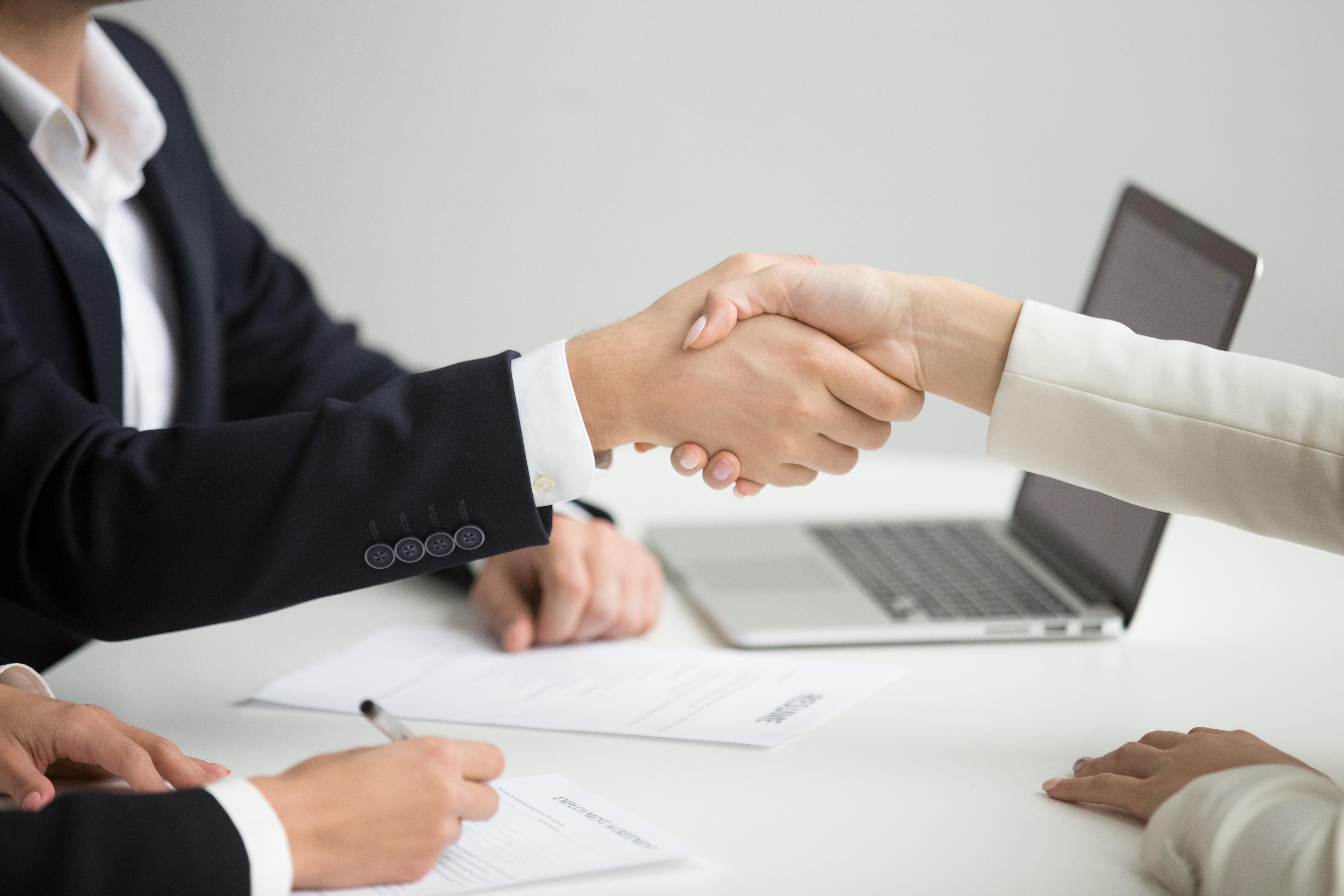 Handschlag Geschäftstreffen