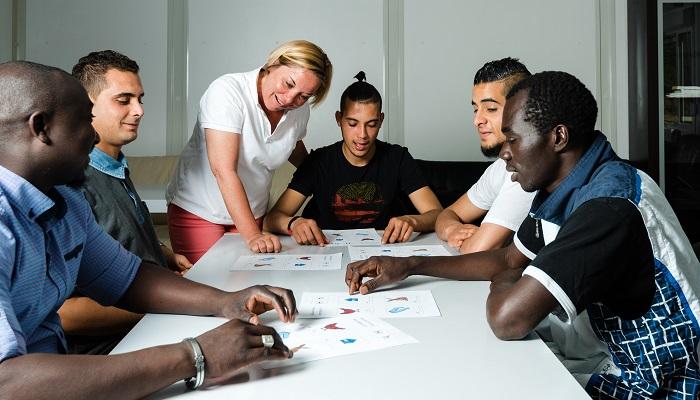 Flüchtlingsheim Unterricht