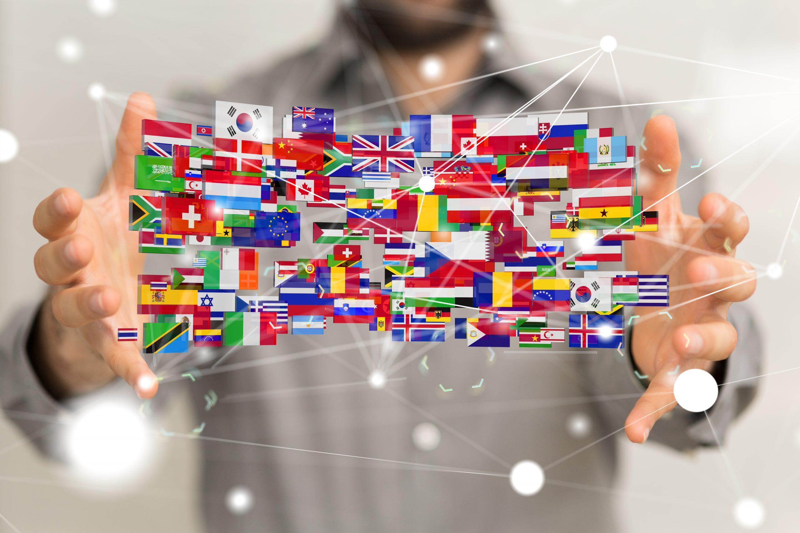 Flaggen, Sprachen und Kulturen