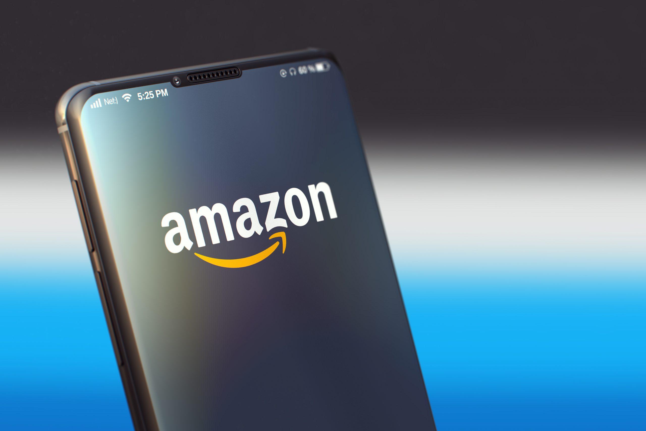 Amazon geöffnet auf einem Smartphone