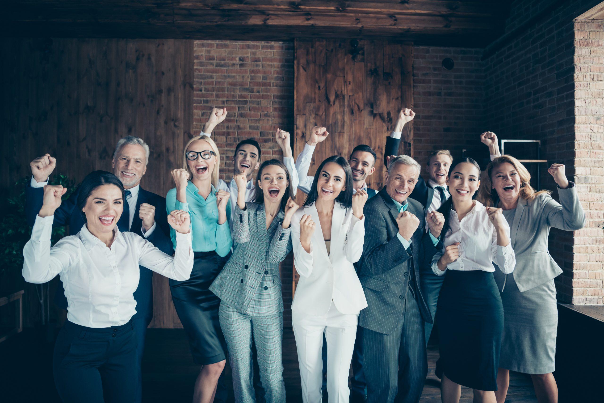 Business Team happy
