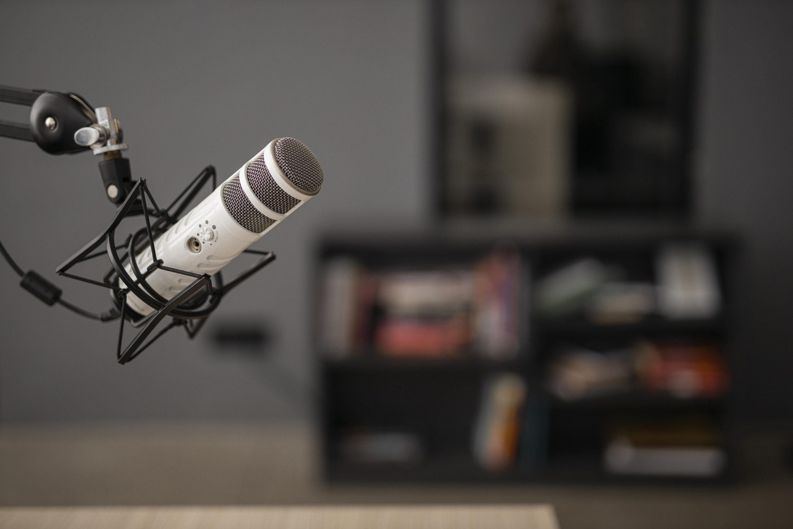 Mikro auf der rechten Seite Podcast